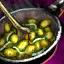 Schüssel sautierten Zucchini mit Muskat