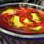Bol de soupe tomate-courgette