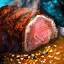 Filete de carne asada con sésamo
