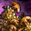 Bol de risotto aux champignons