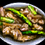 Bowl of Mushroom and Asparagus Risotto