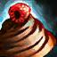 Bol de glaçage chocolat-framboise