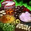 Plateau de cerises chocolatées