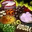 Gâteau au chocolat-baies d'Omnom géant