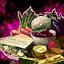 Assiette gourmande de sauté d'aubergine