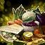 Assiette gourmande de champignons farcis au safran