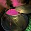 Topf mit Artischockensuppe