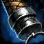 Empuñadura de daga de acero