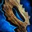 Barre de sceptre en bois ancestral