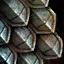 Panneau de coffre en écailles de fer