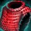 Dunkelstahl-Brustpanzerpolster