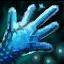 Panneau de gants en soie