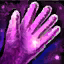Rembourrage de gants en tulle