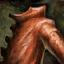 Panneau de manteau long de cuir épais