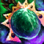 Smaragd-Orichalcum-Ohrring