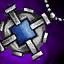 Amuleto de platino y zafiro