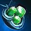 Amuleto de mithril y esmeralda