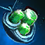 Smaragd-Mithril-Amulett