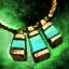 Amuleto de oricalco y crisocola