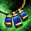 Amulette en orichalque et en saphir