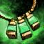Amulette en orichalque et en béryl