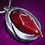 Amuleto de platino y rubí