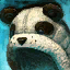 Chapeau de panda poilu