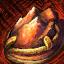 Verschönertes vergoldetes Karneol-Juwel