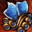 Verschönertes vergoldetes Lapis-Juwel