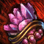 Verschönertes vergoldetes Spinell-Juwel