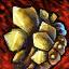 Verschönertes vergoldetes Topas-Juwel