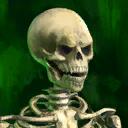 Miniesqueleto espeluznante