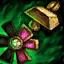 Passionsblumen-Orichalcum-Ohrring