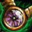 Amulette en orichalque et en passiflore