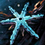 Snowflake Copper Amulet