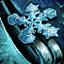 Snowflake Mithril Earring
