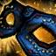 Máscara bordada de donador