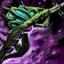 Lance-harpon verdoyant cavalier