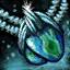 Amulette en mithril et en azurite