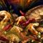 Scharfer marinierter Pilz