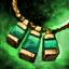 Amulette en orichalque et en quartz chargé