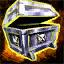 Boîte de pièces d'armure de brigandine chasseuse