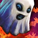 Minifantasma quaggan de Halloween