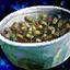 Cuenco de ensalada de cactus con pimienta negra