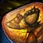Mariposa fosilizada en ambrita