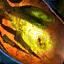 Luciole fossilisée dans l'ambrite