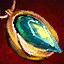 Amulette en orichalque et en ambrite chargée