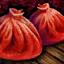 Beignet rouge cuit à la vapeur