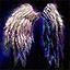 Sac à dos d'ailes à plumes blanches