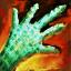 Panneau de gants de cuir durci huilés